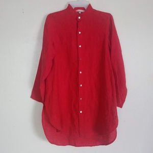 South Street Linen Boyfriend Shirt Tomato 00 (2/4)